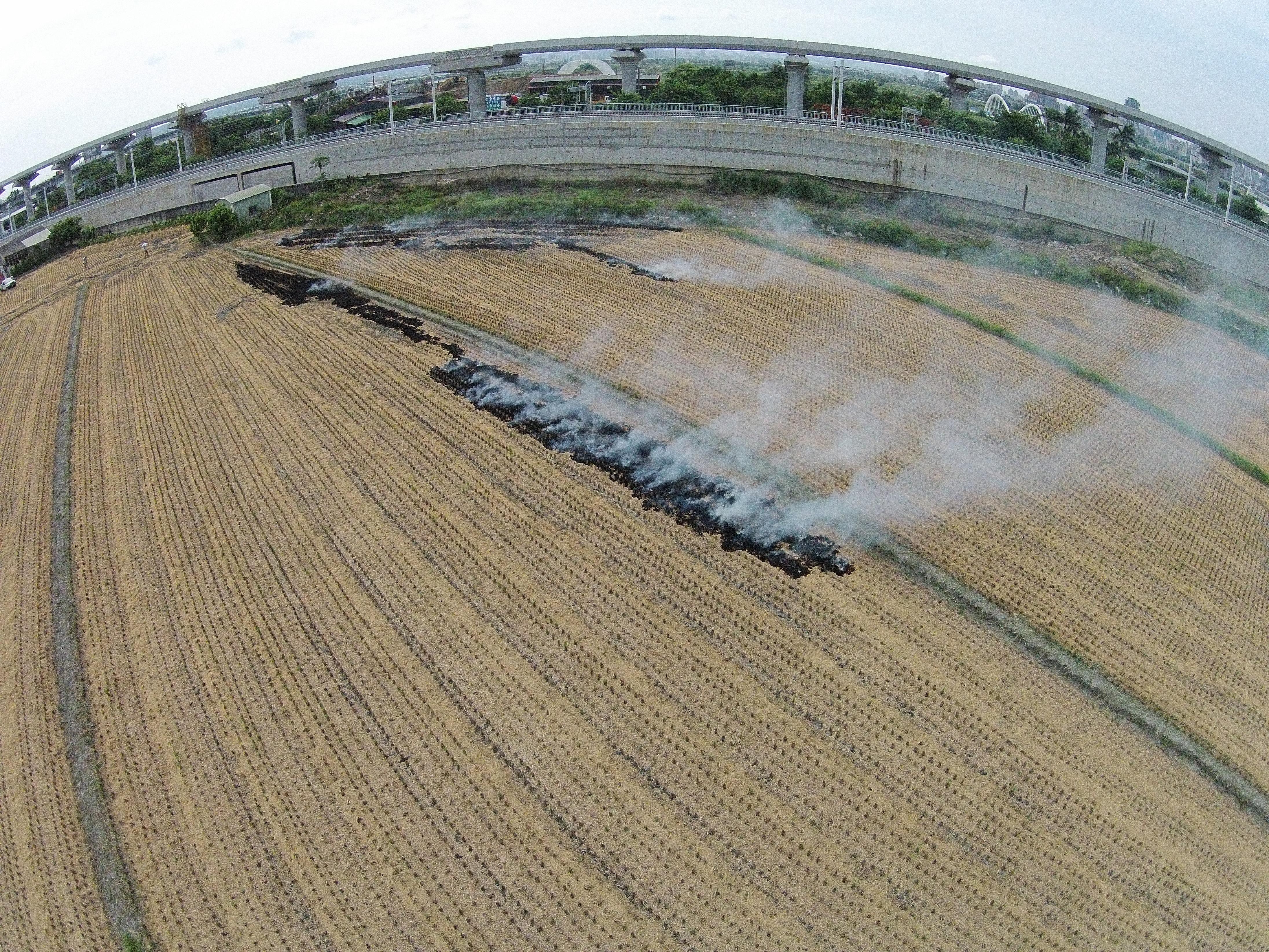 稻草賣擱燒啊!市府蒐證開罰並推廣稻草掩埋補助