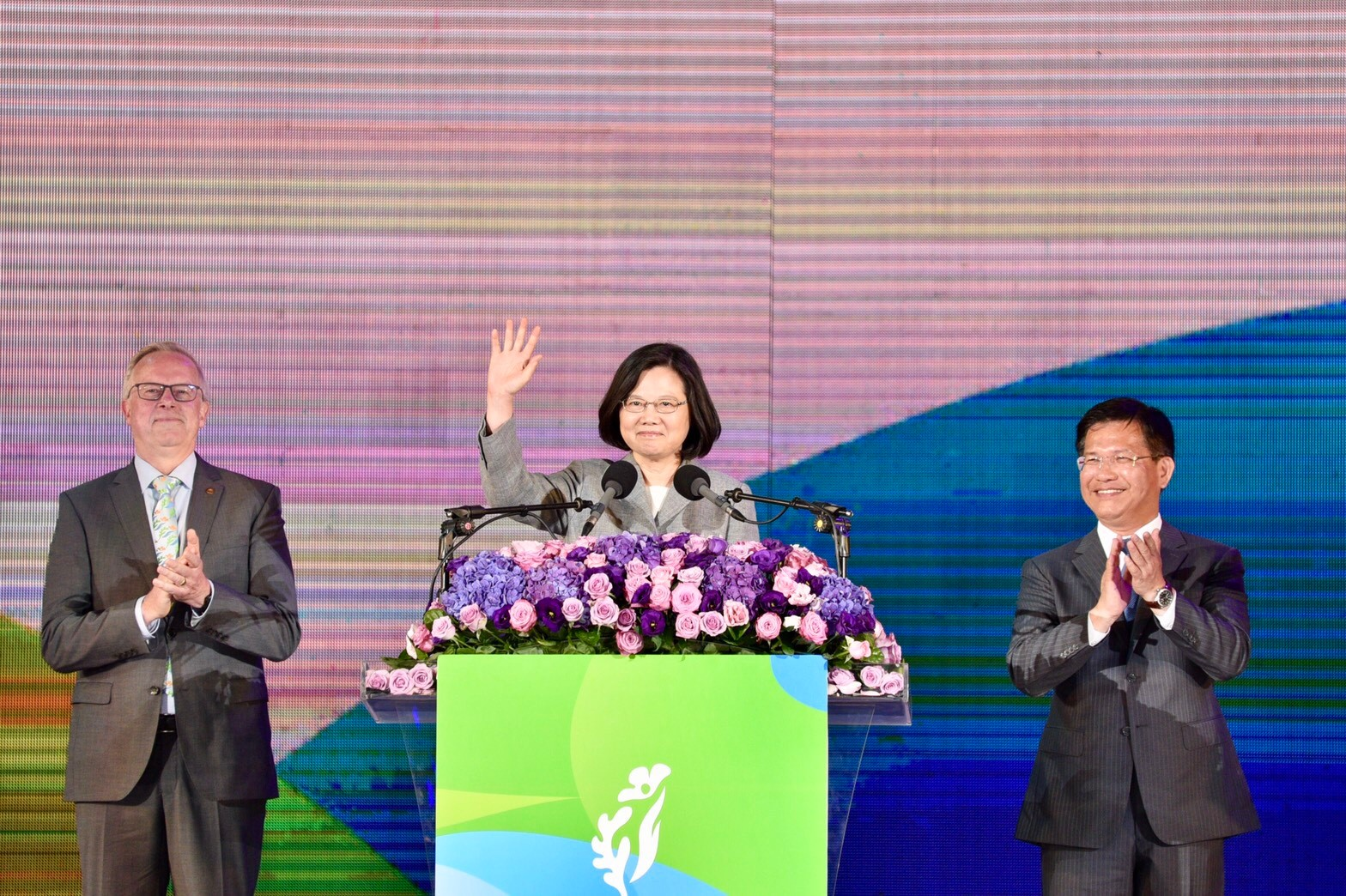 More Than 30,000 Witnessed Shuinan Flora Expo Night. President Tsai: We Take Pride in Taichung