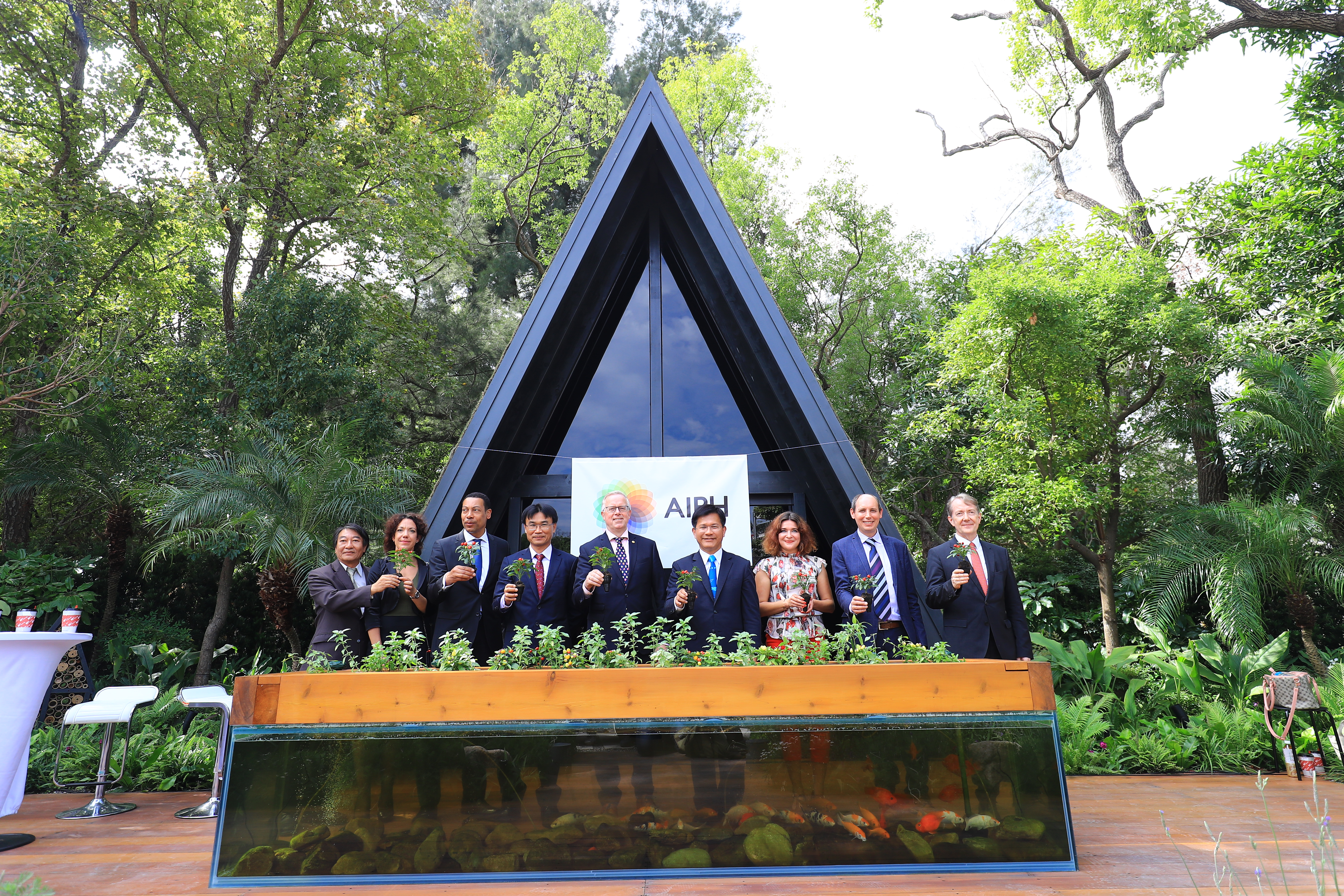 Aquaponics, Insect Hotel & Green Building, Taichung Flora Expo Exhibits AIPH Int'l Garden Model