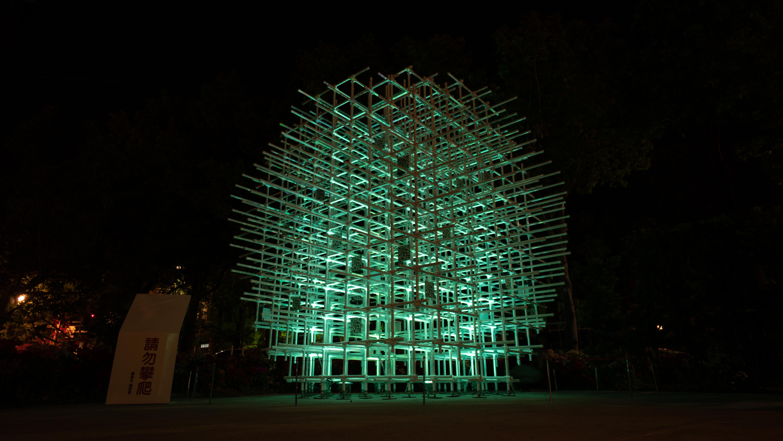 機械蝴蝶展翅花博豐原葫蘆墩公園 厚德正庫企業庭園呈現機械與燈光之美